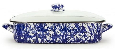 Lasagna Pan with Lid Cobalt Swirl