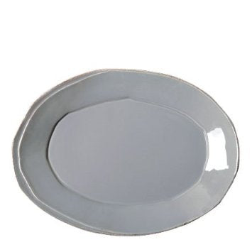 Lastra Gray Small Oval Platter