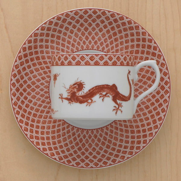 Red Dragon Cup & Saucer