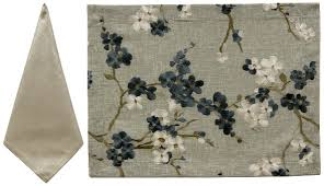 Tree Blossom Placemat - Linen/Lagoon