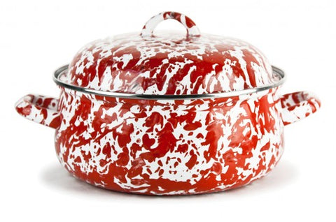 Dutch Oven Red Swirl