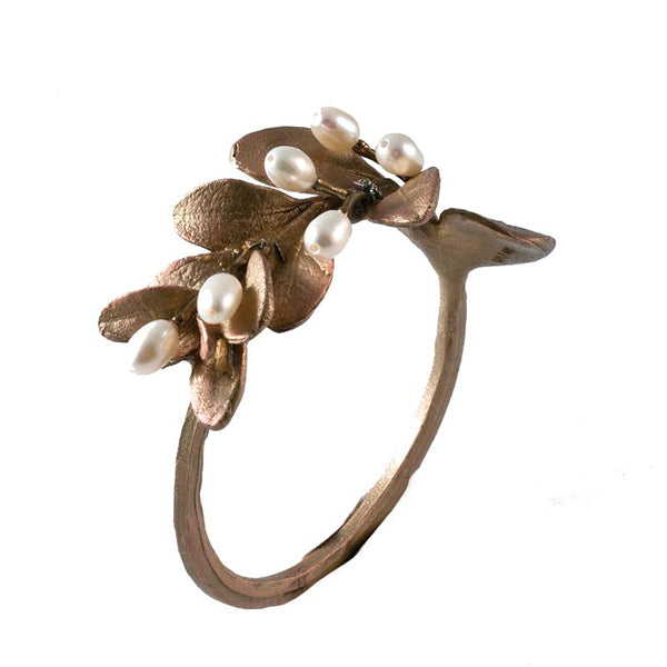 Boxwood Napkin Ring Bronze W/Pearl