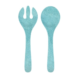 Antiqua Turquoise Salad Serve Set
