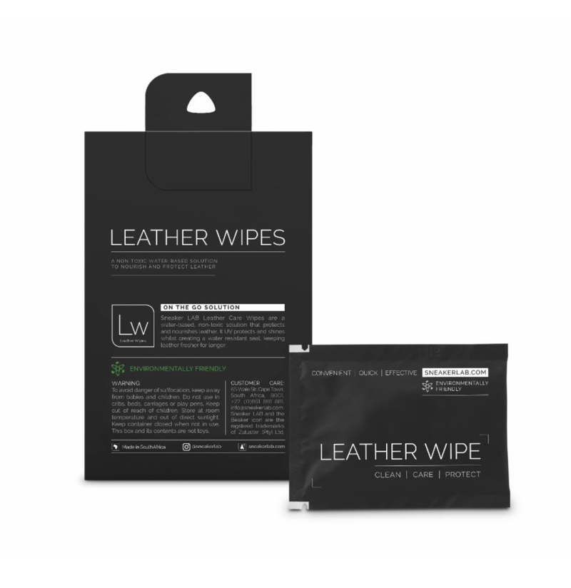 SNEAKER LAB LEATHER WIPES - 12 PACK