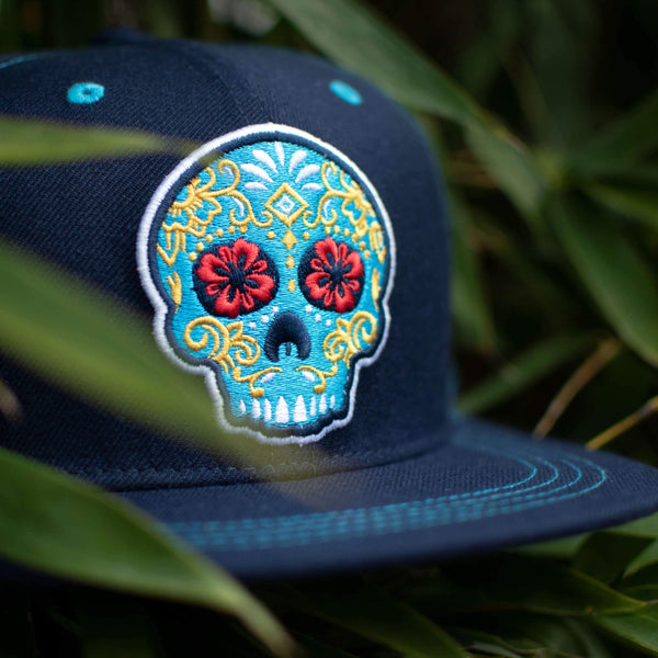 New Blue Flat Brim All Fabric