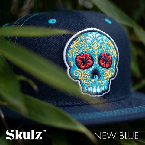 New Blue Flat Brim Mesh Back
