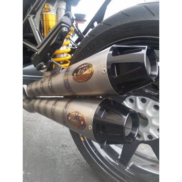 ZARD NEW Full Titanium 2-1-2 Racing (Stacked Mufflers) Exhaust for the BMW R NINE T
