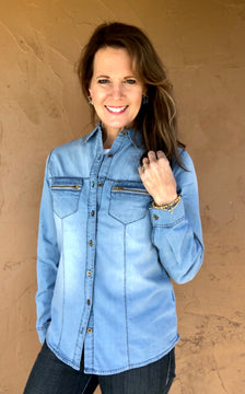 Zippy Chambray Shirt