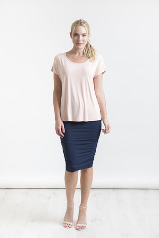 Bamboo Ruched Skirt