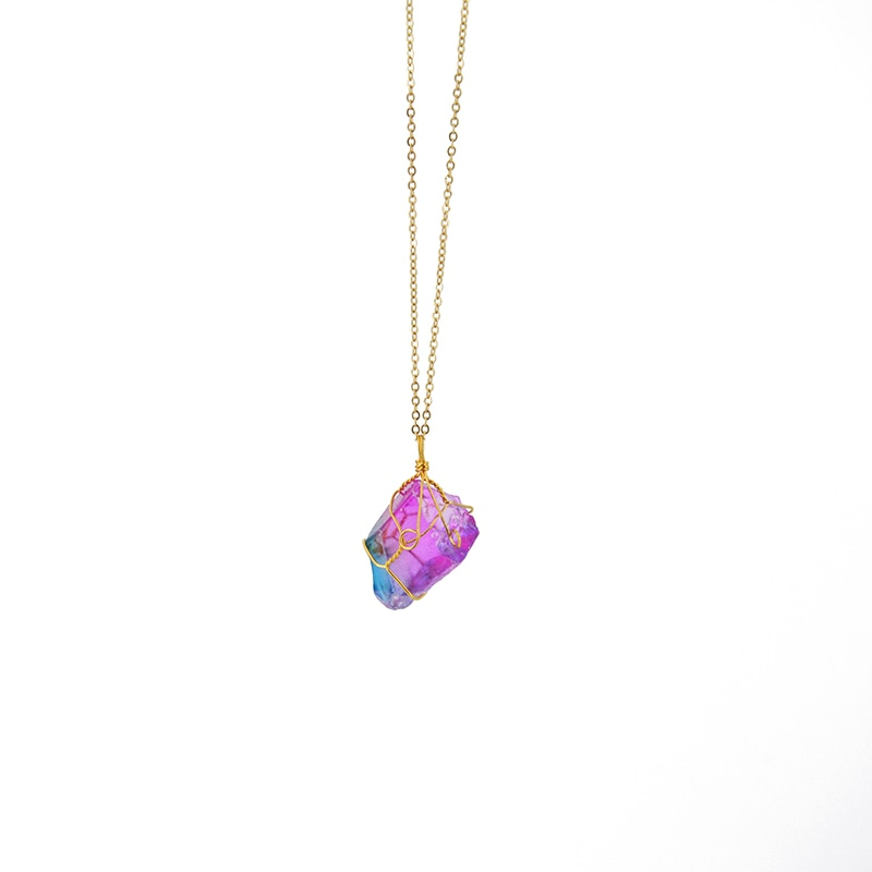 Rainbow Stone Necklace