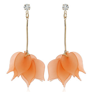 Orange Handmade Flower Earring