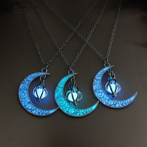 Moon Glowing Necklace Gem