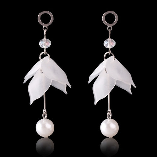 White Flower Earring