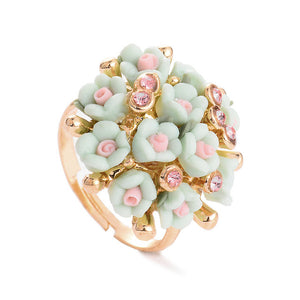 Ceramic Flower Ring