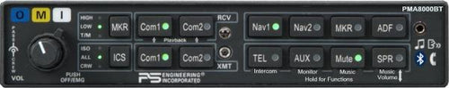 PS Engineering PMA8000BT Audio Panel/Marker/Intercom/BlueTooth