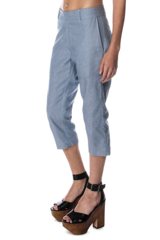 smith clam digger denim trouser