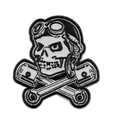 PILOT SKULL WITH PISTONS PATCH