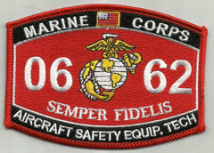 0662 AIRCRAFT SAFETY EQUIP TECH USMC MOS MILITARY PATCH