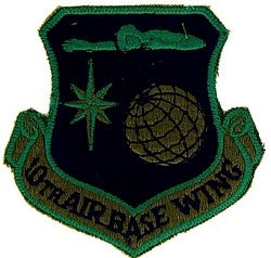 10th AIRBASE WING AIR FORCE MILITARY PATCH - SUBDUED