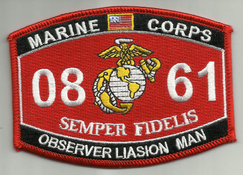 0861 Observer Liasion Man USMC MOS MILITARY PATCH