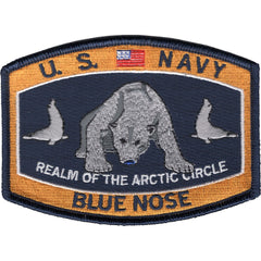 Blue Nose Polar Bear Navy Ratings MOS Hat Patch