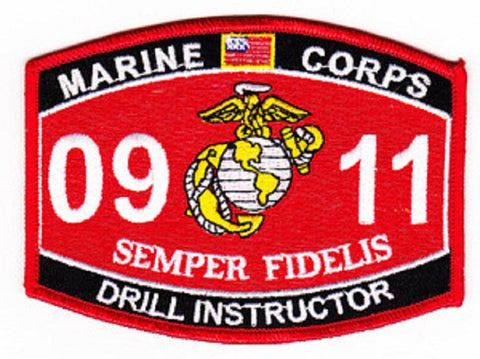 United States Marine Corps Military Occupational Specialty 0911 DRILL INSTRUCTOR MOS Military Patch