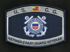 United States COAST GUARD USCG Retired Coast Guard Veteran Military Patch