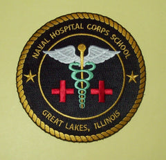 NAVAL HOSPITAL CORPS SCHOOL - GREAT LAKES, ILLINOIS MILITARY PATCH