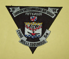 CARRIER ANTISUBMARINE AIR GROUP 54 - CVSG 54 - MILITARY PATCH