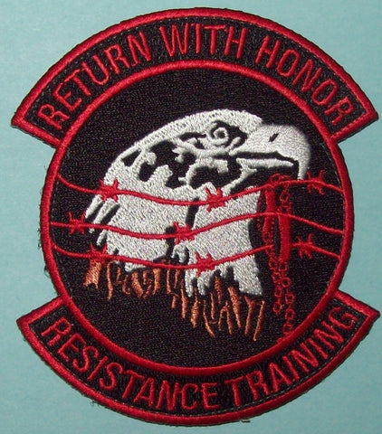 AIR FORCE SPECIAL OPERATIONS COMMAND - SERE - RESISTANCE TRAINING MILITARY PATCH RETURN WITH HONOR