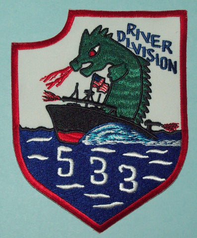 NAVY Vietnam River Division 533 Military Patch - Dragon