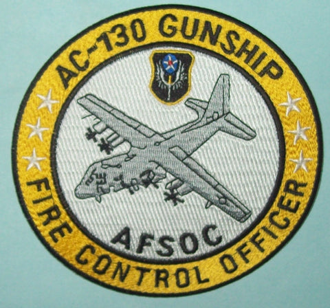 USAF AIR FORCE AC-130 GUNSHIP, FIRE CONTROL OFFICER, AFSOC MILITARY PATCH