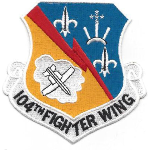 104th Fighter Wing USAF Military Patch