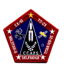 Cape Canaveral Air Force Titan IVB-35 Launch of Milstar-6 Super Secure Communication Satellite Military Patch