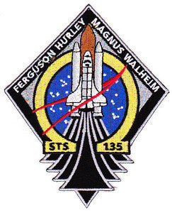 STS-135 SHUTTLE ATLANTIS MISSION FLIGHT SPACE EXPLORATION NASA MILITARY PATCH
