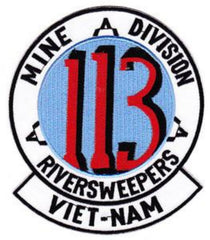 113 U S Navy Riversweepers Mine Division Military Patch VIET-NAM