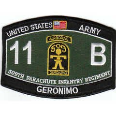 509th Parachute Infantry Regiment 11B Airborne Geronimo ARMY Patch