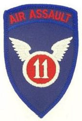 11th AIR ASSAULT MILITARY PATCH