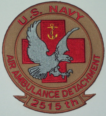 NAVY 2515th AIR AMBULANCE DETACHMENT Iraq OIF OEF Military Patch DESERT
