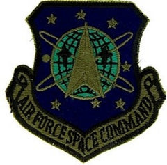 USAF Air Force Space Command Military Patch AFSPC - Subdued