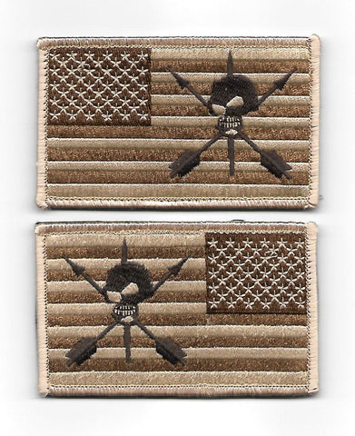 19th SFG ODA 9235 Flag Set Hook Patch - Desert Brown