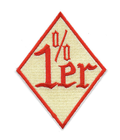 1%er One Percenter Red Diamond Embroidered Patch