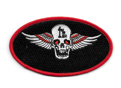 1%er Skull with Wings Embroidered Patch