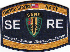 NAVY Rating Special Operations Survival Evasion Resistance Escape Military Patch SERE