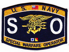 United States NAVY Weapons Speciality Rating Special Warfare Operator Military Patch SO SEAL