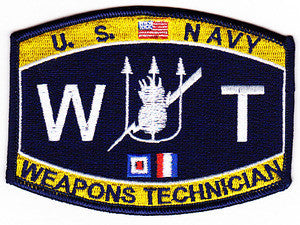 NAVY Weapons Technician Rating Military Patch WT