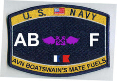 United States NAVY Deck Rating Aviation Boatswain's Mate Fuels Military Patch ABF