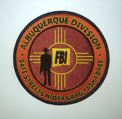 Gang Task Force Safe Streets FBI Albuquerque Division Collectors Patch