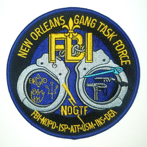 Gang Task Force FBI New Orleans Collectors Patch