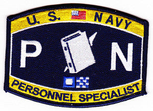 United States NAVY Administrative Deck Rating Personnel Specialist Military Patch PN